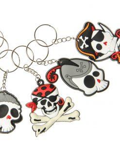 piraten sleutelhangers, doodskoppen sleutelhanger