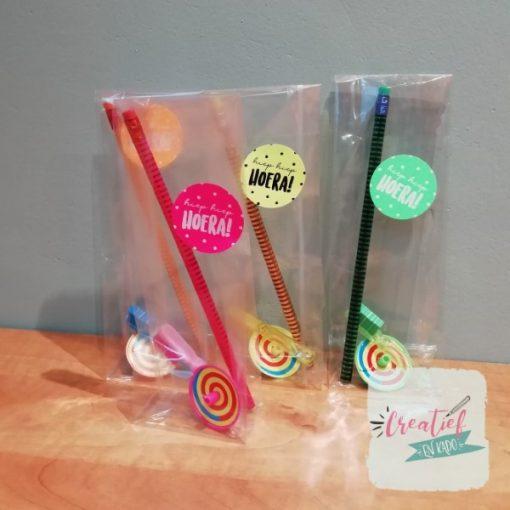 tandenborstel fun traktatie, kleurrijke traktatie, complete traktatie