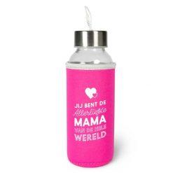 waterfles mama, waterfles allerliefste mama, duurzame waterfles, fles 300 ml