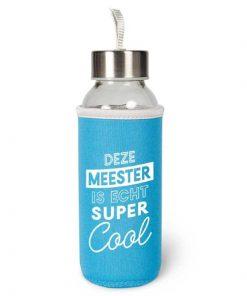 waterfles meester, cadeau meester, duurzame waterfles, deze meester is echt supercool