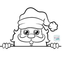 gluur kerstman, peeking santa, gluur kerstman tocht