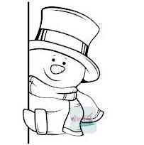 raamsticker gluur sneeuwpop, raamsticker kerstmis, raamsticker winter