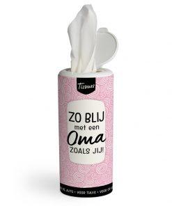 tissues dispenser oma, zo blij met een oma zoals jij