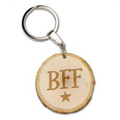 boomschijf sleutelhanger BFF, best friends forever