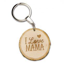 boomschijfsleutelhanger I love mama