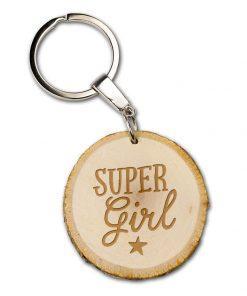 boomschijf sleutelhanger super girl