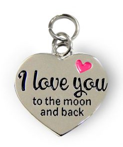 charm for you, I love you bedeltje, I love you to the moon and back