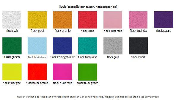 kleurenkaart flockfolie, kleurenkaart textielfolie