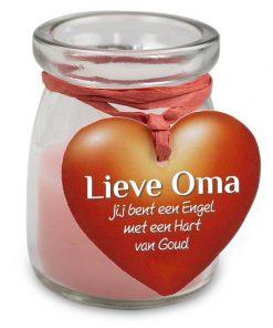 love light oma, lieve oma, cadeau oma, kaarsje oma