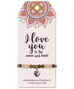 vriendschapsarmband I love you, cadeau liefde, cadeau valentijnsdag