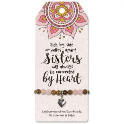 vriendschapsarmband sisters, familie, zussen cadeau, armband zussen