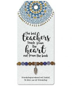 vriendschapsarmband teachers, the best teachers teach from the heart not from the book