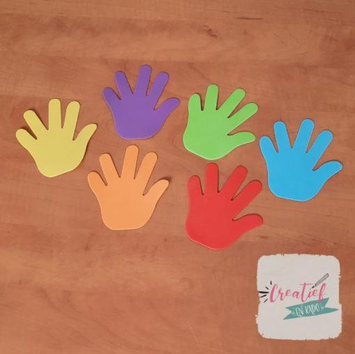 foam handjes, foam handen, knutsel handen, afscheidstraktatie
