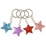 sleutelhanger glitter ster, glitter sterren, sterren sleutelhanger, glitter traktatie, meiden traktatie