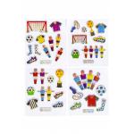 voetbal stickertjes glitter, voetbal stickers, voetbal uitdeelkadootjes, voetbal traktatie