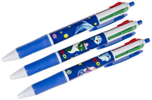 dolfijnen pen, dolfijn traktatie, dolfijnen traktatie, 4-kleuren pen
