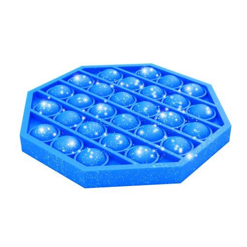 bubble pop-it blauw, bubble pops blauw glitter