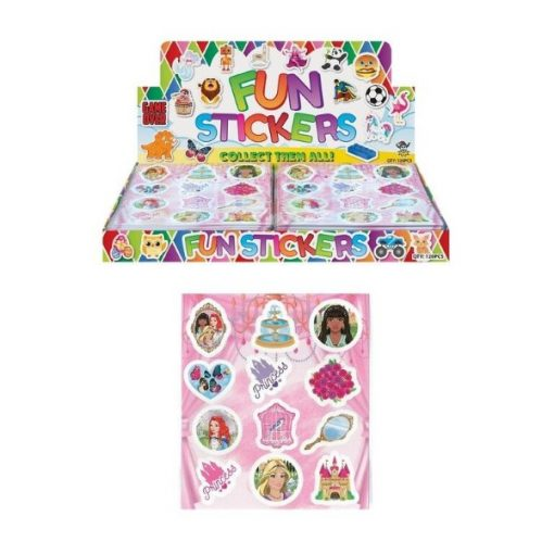 fun stickers prinses, prinsessen traktatie, meisjes traktatie