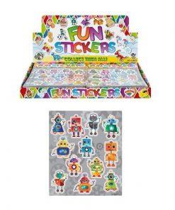 fun stickers robot, robot stickers, robot traktatie, jongens traktatie