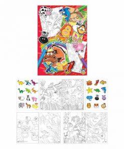 kleur- en sticker boekje, kleurboekje, stickerboekje, kleur traktatie, traktatie peuters, traktatie kleuters