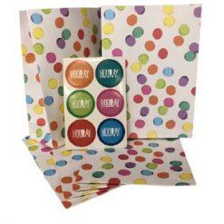 partyzakjes confetti multicolor, cadeauzakjes confetti