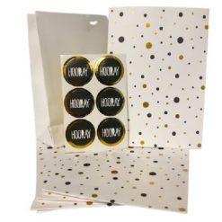 partyzak dots gold, cadeau zakjes