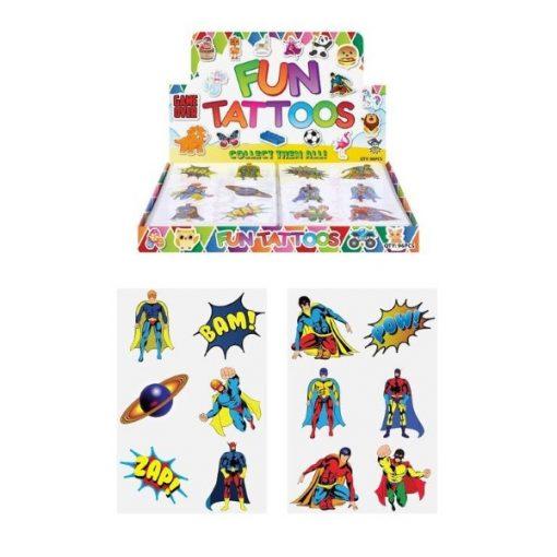 superhelden tattoo, superheld tatoeage, superheld traktatie