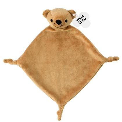 tutdoek beer, knuffeldoekje beer, tutdoek met naam