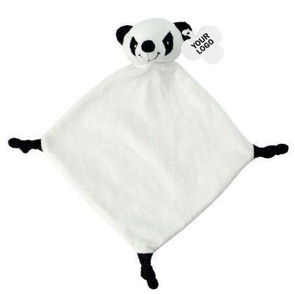 knuffeldoek panda, tutdoek panda, knuffeldoekje met naam, kraamcadeau met naam