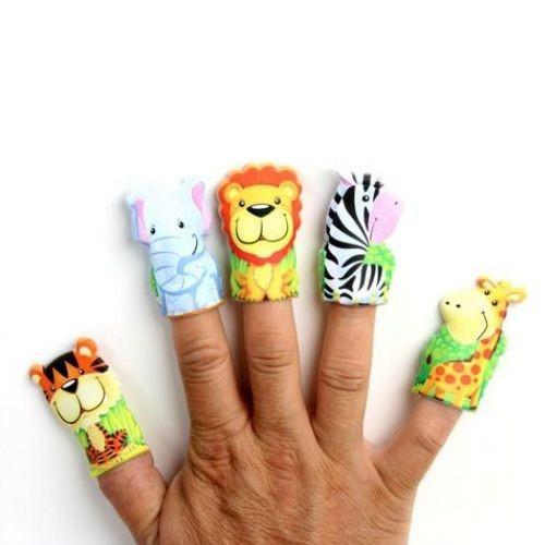 vingerpop dieren, wilde dieren vingerpoppetjes, jungle dieren, dieren traktatie