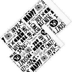 cadeau zakje just because paperfuel, papieren cadeau zakje, cadeau zakje met opdruk, cadeau zakje zwartwit