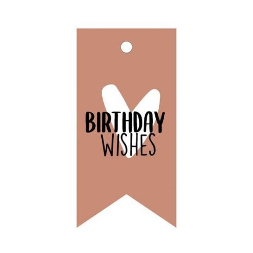 cadeau label birthday wishes, kado label verjaardag, cadeau vaantje birthday