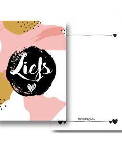 kaart liefs roze, kaart A6