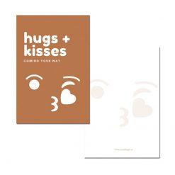 mini kaartje hugs + kisses