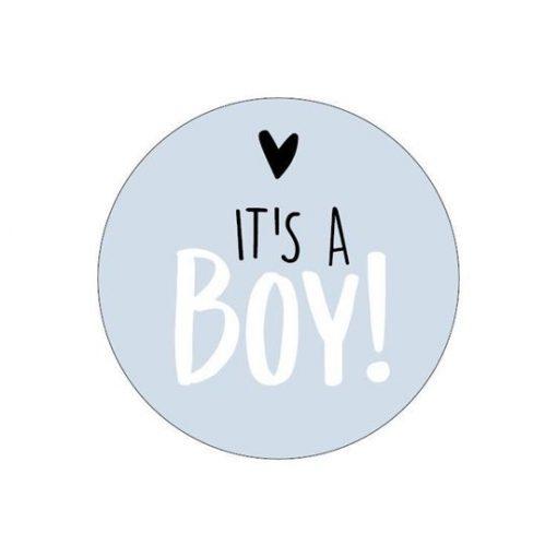 Sluitsticker it's a boy, sluitsticker jongen geboren