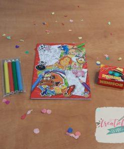 kleur- en stickerboekje traktatie
