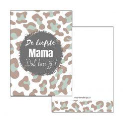 mini kaartje liefste mama dat ben jij