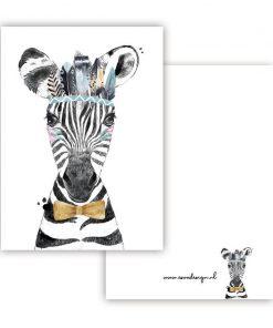 mini kaartje lieve diertjes, mini kaartje lieve zebra jongen