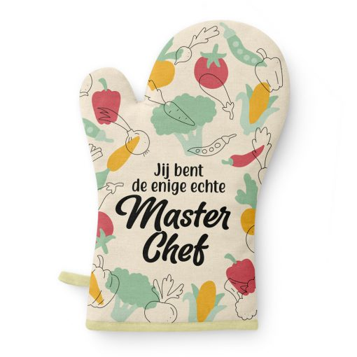 oven handschoen masterchef, cadeau vrouw, cadeau man, cadeau kok