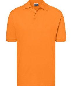 polo heren, oranje polo