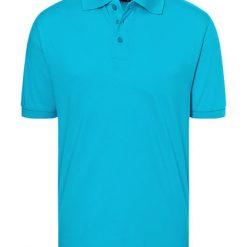 polo heren bedrukt, polo turquoise