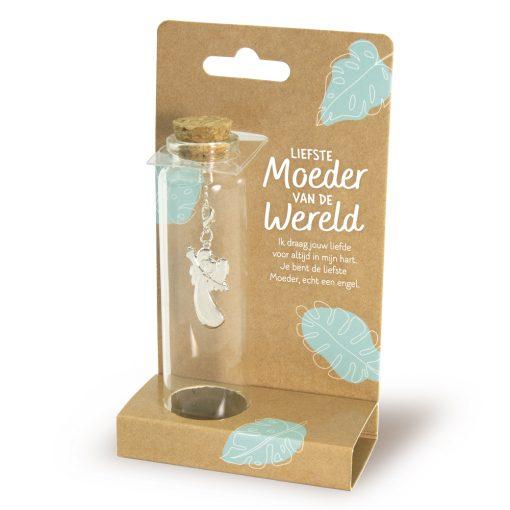sieraad in een flesje moeder, liefste moeder, cadeau moederdag