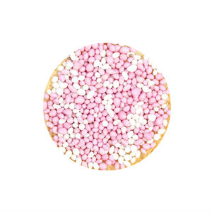 sluitsticker muisjes roze, meisje geboren, sluitsticker baby