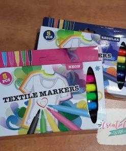 textiel markers neon, textiel regular
