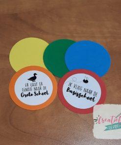 traktatie labels regular kleuren, traktatie labels rond