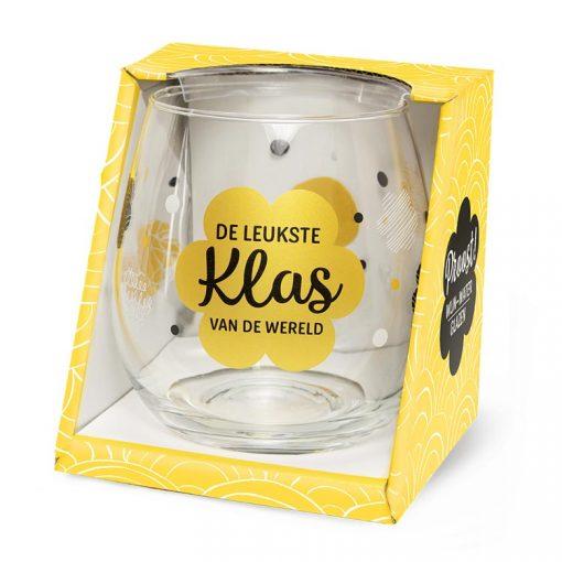 water- wijnglas leukste klas, waterglas juf, waterglas meester, cadeau einde schooljaar