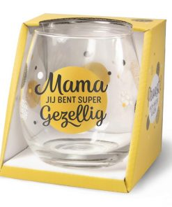 water- wijnglas mama, cadeau mama, cadeau Moederdag, wijnglas mama, waterglas mama