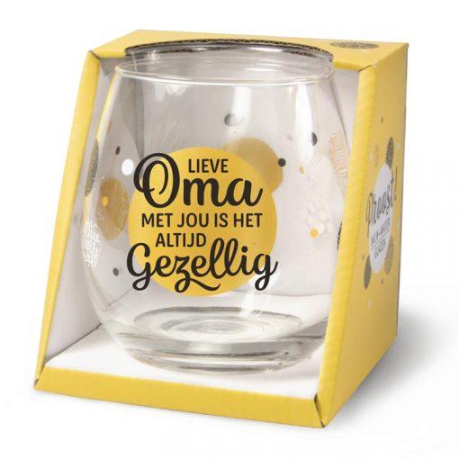 water- wijnglas oma, waterglas oma, wijnglas oma, cadeau oma