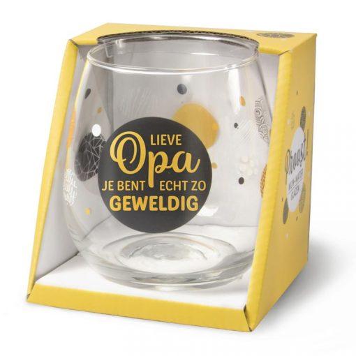 water- wijnglas opa, wijnglas opa, waterglas opa, cadeau opa, cadeau vaderdag