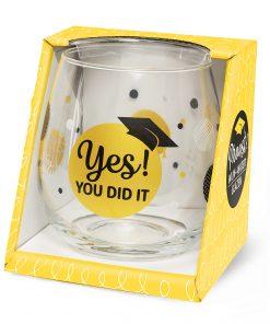 water- wijnglas you did it. waterglas geslaagd, wijnglas geslaagd, examen cadeautje.